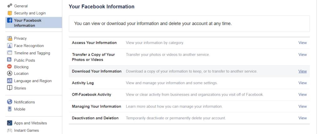 Download Your Facebook Friends